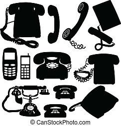 Telefonvektorsilhouette