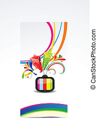 televis, bunte, welle, abstrakt