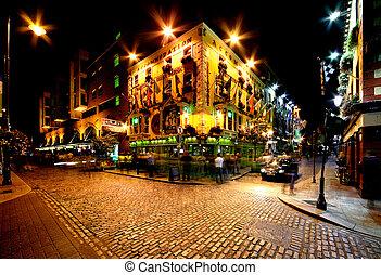 Temple Bar Street in Dublin, Irelan