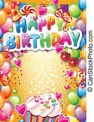 TEMPUS: Happy Birthday Card mit Platz für Text