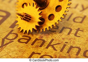 text, altes , ausrüstung, bankwesen