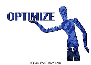 text, modell, optimize, abbildung