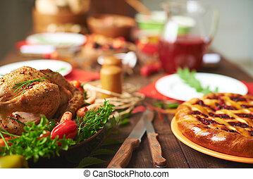 Thanksgiving-Essen.