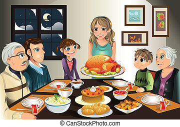 Thanksgiving Familienessen