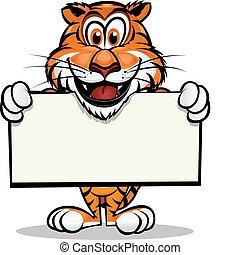 tiger, maskottchen, reizend