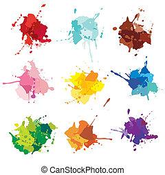 Tintenflecken. Farbflecken