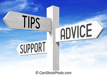 Tipps, Ratschläge, Unterstützung - Holz-Schilder.