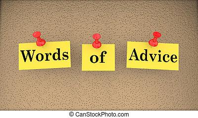Tippworte helfen bei der Unterstützung von Bulletin Board 3d Illustration.