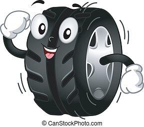 Tire mascot