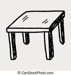 Tischdoodle.