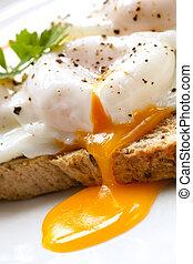 toast, eier, erschlichen