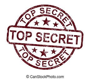 Top Secret Briefmarke zeigt geheime private Korrespondenz