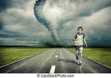 tornado, junge betrieb