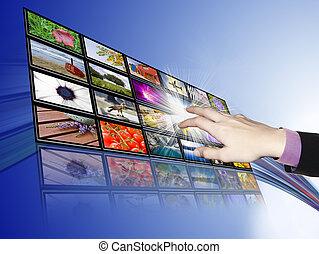 Touch-Screen-Kommunikation, Technologie und Entwicklung