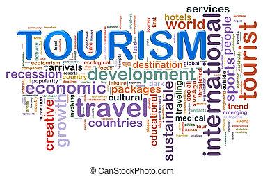 Tourismus-Wortschilder