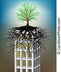 Towerblock Baum