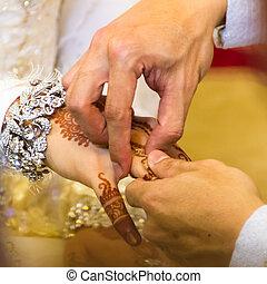 Traditionelle Hochzeit.