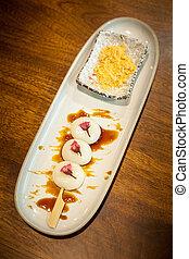 traditionelle , nachtisch, japanisches , mochi