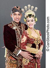 Traditionelles japanisches Ehepaar.