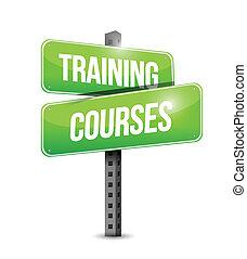 training, abbildung, zeichen, kurse, design, straße