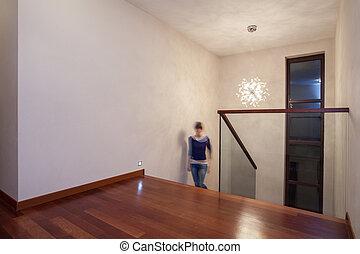 Travertine-Haus - helles Innere