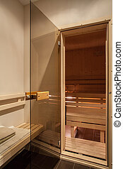 Travertine Haus - Holzsauna.