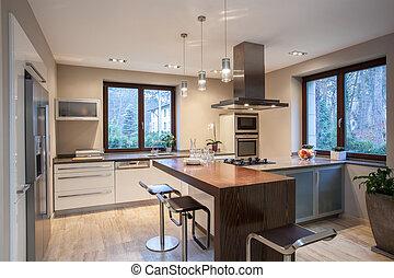 Travertine House, angenehme Küche
