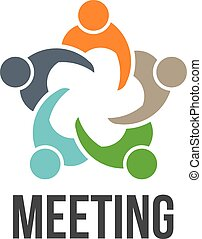 Treffen. 5 Personen Logo