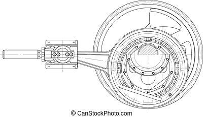 Treibmechanismus Kolbenpumpe