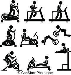 turnhalle, turnhalle, übung, fitness