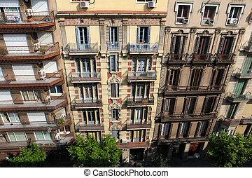 Typische Architektur in Barcelona, Spain