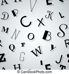 typographie, hintergrund, seamless