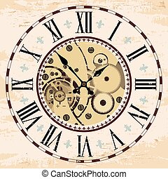 Uhrenmechanismus Montage.