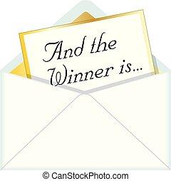 Und der Gewinner ist der Umschlag.