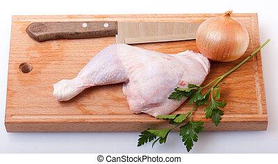 Ungekochtes Huhn