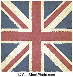 Union Jack alter Hintergrund