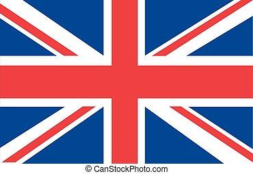Union Jack isolierter Vektor.