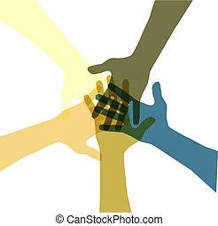 United color hands.