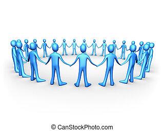 United People - blau.