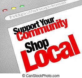 Unterstützen Sie Ihren lokalen Website-Laden