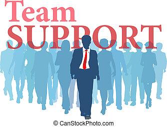Unterstützungsteams für Backup-Leute.