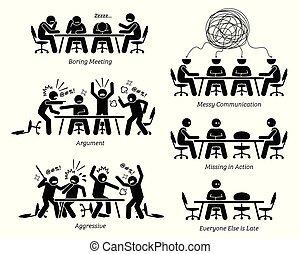 unwirksam, discussion., haben, unwirksam, versammlung, geschäftsführung