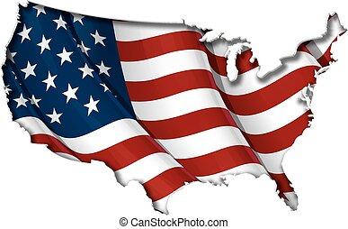 US Flag-map Innenschatten