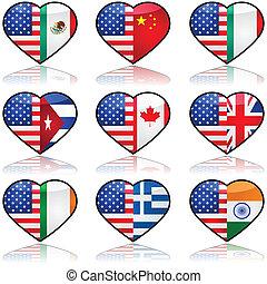 USA geteilte Liebe