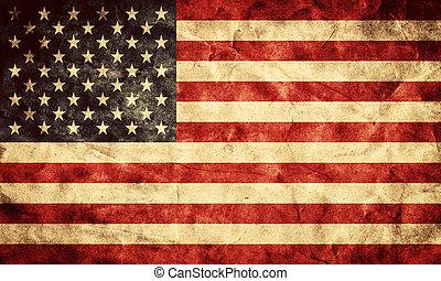 USA Grunge Flag. Artikel aus meiner alten, Retro-Flaggen-Sammlung