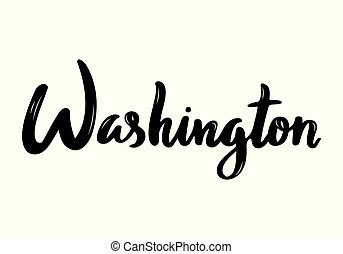 usa, handgeschrieben, washington, kalligraphie, name, capital.