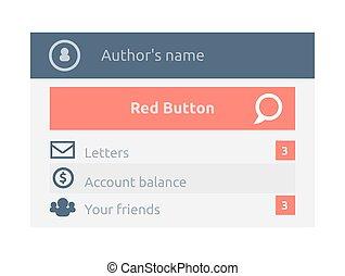 User Interface Website Element