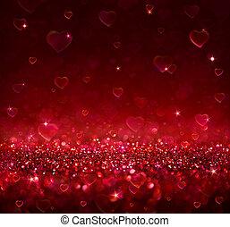 valentine, hintergrund, herzen
