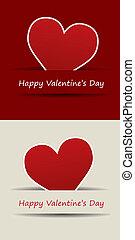 valentines, herz, tag, vektor