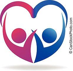 Valentinspaare lieben Logos.